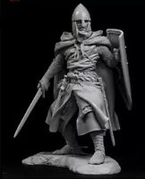 1:24 Resin Figure Model Kit Swordsman Crusader Warrior Unassambled Unpainted