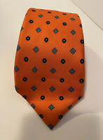 Bright Orange Mens Silk Tie Cravatta Sanseverino Napoli Made In Italy Necktie