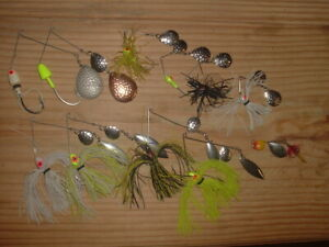 Old Fishing Lures Huge Lot Of 11 Bomber Bushwacker Spinners & Spinnerbaits LOOK