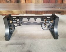 Cast Iron Crank Table Base with Brass Gears and Hardware