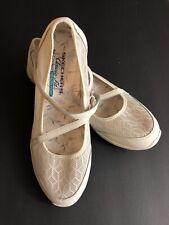 Skechers Women's Shoes BE LIGHT Mesh Natural Beige Size 10 EUC