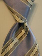 DONALD TRUMP President Signature Collection Men's Silk Necktie STRIPED Blue GUC