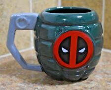 Deadpool Grenade Coffee Tea Mug Green Avengers Gift Comic Zak Designs