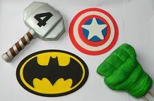 LARGE edible 3D HULK THOR  BATMAN CAPT super hero CAKE DECORATION TOPPER kit
