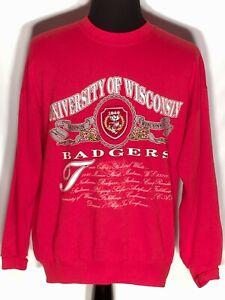 Vtg University of Wisconsin Badgers NCAA Big Ten Nutmeg Large L Red Sweatshirt