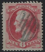 US Stamps - Scott # 159 - 6c Lincoln Banknote - Fancy Cancel             (L-550)