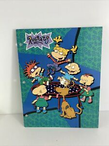 Vintage NICKELODEON RUGRATS 3 Hole Binder Pocket Folder Tommy Chuckie 90's RARE