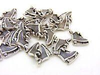 5 x 12mm Tibetan Silver Ice Skate Charms Jewellery Pendant FREE UK P+P F31