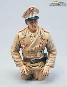 1:16 Figur bemalt für Panzer Modelle deutsche Panzerbesatzung Kommandant DAK