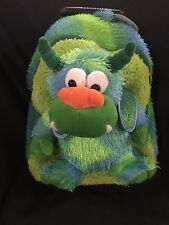 Kreative Kids Plush Green Monster Trolley Backpack Brand New with Original Tags