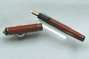 Pen Wahl EVERSHARP Coral Pen Gold 18K Fountain Pen Chicago USA J262