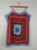 Handmade Multicolour Crochet Blanket Size 28 x 28 inches