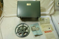 Vintage Argus Showmaster M-500 8mm portable movie projector w/Reel, original box