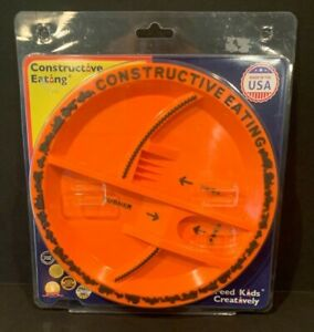 Constructive Eating Construction Plate for Toddlers, Infants, Babies and Kids -