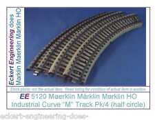 EE 5120 LN Marklin HO M Track Industrial Curve Pack of 4 LikeNew Condition