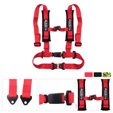 Red Universal Vehicle Racing 4 Point Auto Car Safety Seat Belt Buckle Harness