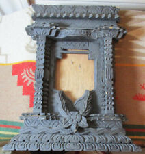 VINTAGE HAND CARVED & PAINTED WOODEN TABLE FRAME MEXICO?
