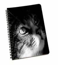 A5 Sheet Smooth Paper Cat Black & White Print Personal/Office Stationary