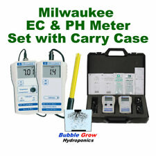 MILWAUKEE PH MW 100  & EC MW 302 TESTER METER SET WITH CARRY CASE
