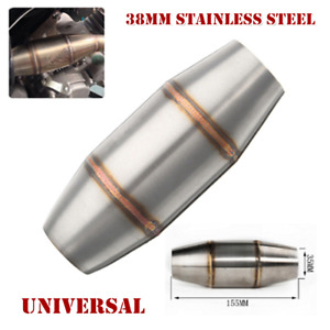 38mm Stainless Steel Motor Quad Expansion Chamber Tuned Exhaust Pipe Muffler Kit