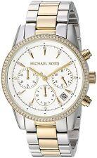 Michael Kors Women's MK6474 'Ritz' Chronograph Crystal Stainless Steel Watch