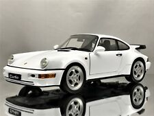 Welly Porsche 911 (964) Turbo 3.3 Diecast Model Car White 1990-1992 1:18