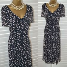 ~ JACQUES VERT ~ Navy Blue & Pink Dress Size 20 Suit Mother of the Bride