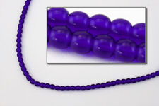 6mm Transparent Cobalt Druk Bead (25 Pcs) #Gad026