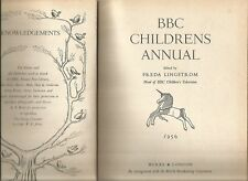 BBC CHILDRENS ANNUAL Edited by FREDA LINGSTROM 1956 Hc Dj  ILLUSTRATED W E JOHNS