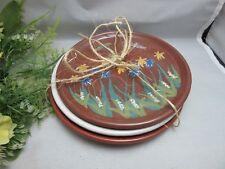 3x 1988 Virginia Gero signed pottery plates. Garden
