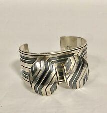 Rare James Avery Retired Cuff Bracelet & clip on earrings