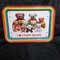 Vtg 1984 I Love Teddy Bears Rainbow Cheinco Tray