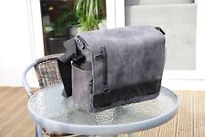 Black Messenger Canvas Camera Bag Padded Removable Insert 3 Apartment Medium