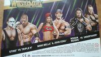 WWE Mattel Wrestlemania 34 Battle Packs-Sting&HHH,Taker&Reigns,Cena&Nikki Bella