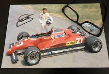 Photo A4 Signée Signed Autographe Patrick Tambay 2019 Ferrari F1 Scuderia 126 CK