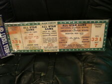 1961 MLB All-Star Mini Mega Ticket Fenway Park 7-31-1961 Boston