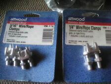 Stainless steel wire/rope clamps unopened pkg