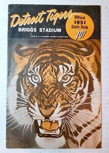 1951 Detroit Tigers baseball scorebook vs. Washington Senators, Briggs Stadium