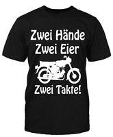 Hände Eier Simmi T-Shirt Fun Moped DDR Sprüche Ossi Trabbi Simson Suhl Schwalbe