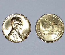 Lot of TWO (2) 1958D 24K GOLD Plated Wheat Pennies Lincoln Penny ONE CENT