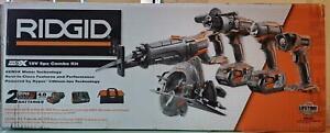 NEW Ridgid Tool Company R9652 18V 5-Tool Combo Kit $298