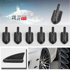 10X Car Truck SUV Shark Fin Diffuser Decor Spoiler Roof Wing Carbon Fiber Color