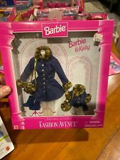Vintage New Mattel Barbie & Kelly Matching Style Fashion Avenue Denim Coat Dress