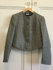 Laura Ashley Size 10 ( Size 8 ?) Fitted Wool Houndstooth Jacket