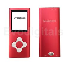 Red 16gb EVO Elite Mp3 Media Mp4 Player Music Video FM Tuner Games Voice