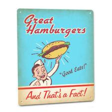 Great Hamburgers Burger Boy Metal Sign Retro Diner Cafe Restaurant Drive In Art