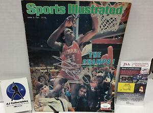 Isiah Thomas Autographed Sports Illustrated Jsa Coa 4/6/81 Indiana, Pistons, NBA