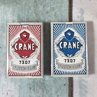 Vintage CRANE 7307 Deck of Poker Sized Playing Cards x2 - SEALED  Made in China
