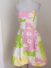 eeeed86a203cb4 NWT LILLY PULITZER STRAPLESS BLOSSOM FRESH PICKED PATCHWORK DRESS SZ 2