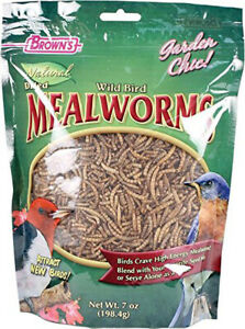 F.M. BROWN'S - Garden Chic! Natural Wild Bird Food Dried Mealworms - 7 oz/198g
